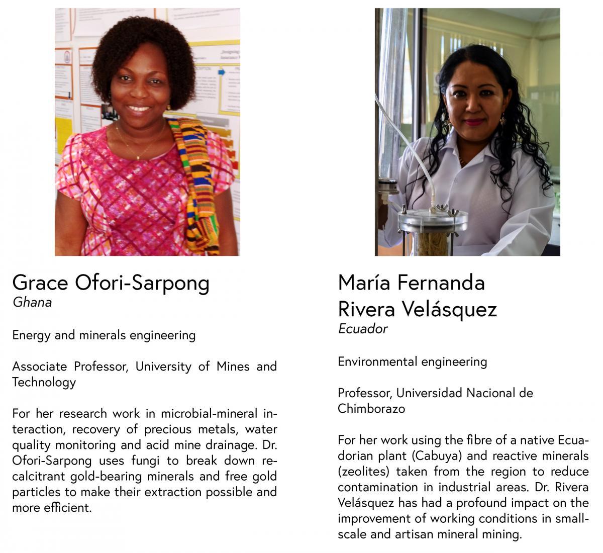 OWSD-Elsevier Foundation Awardees for Early Career Women